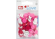 "Кнопки Prym Love 393031 ""Color Snaps"" сердце d13,6 (21шт.)"